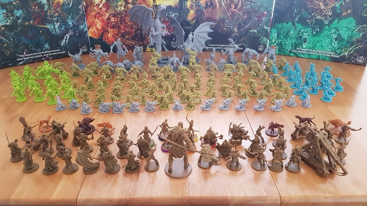 Zombicide: Green Horde components