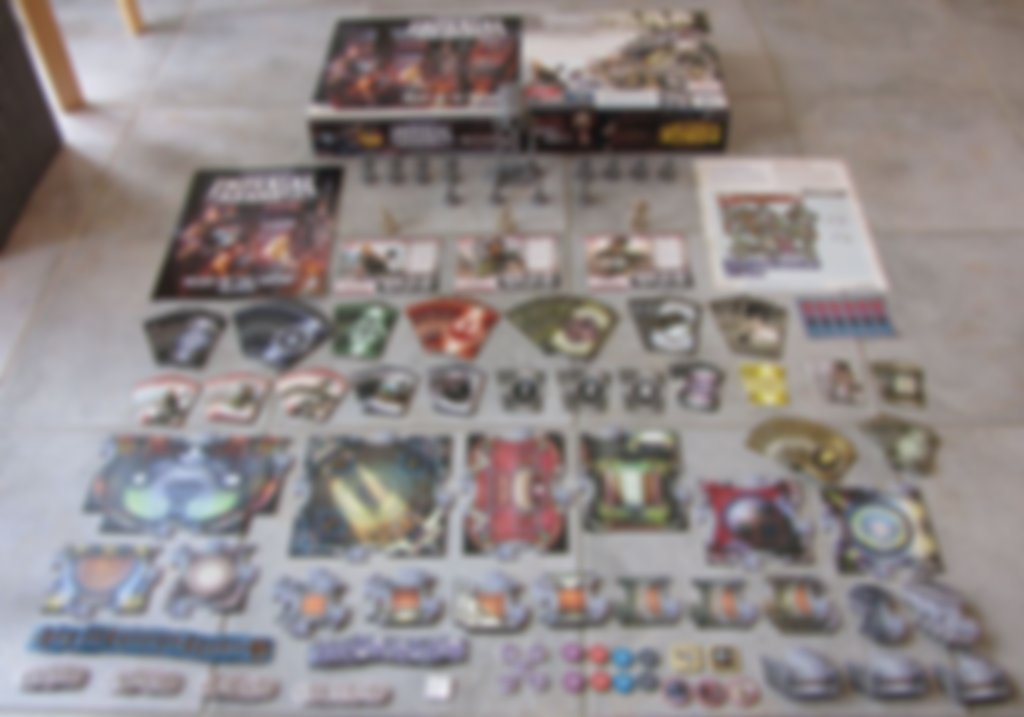 Star Wars: Imperial Assault - Heart of the Empire components