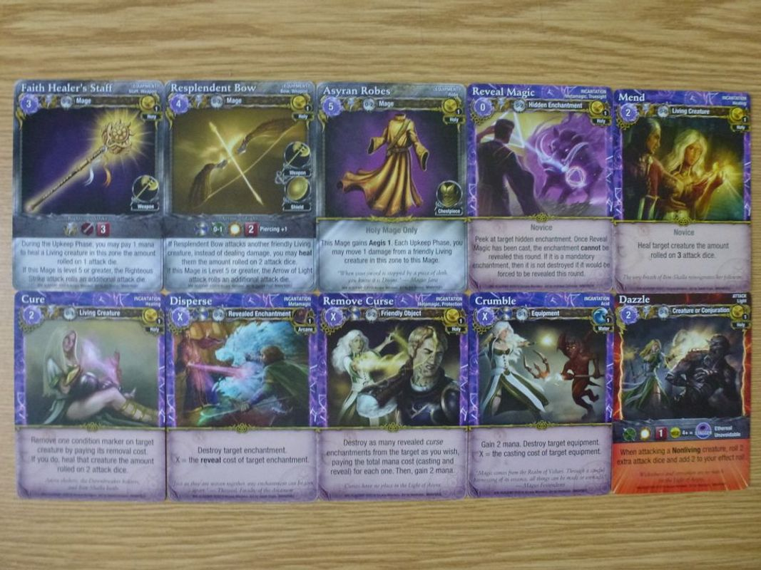 Mage Wars: Academy - Priestess Expansion cards