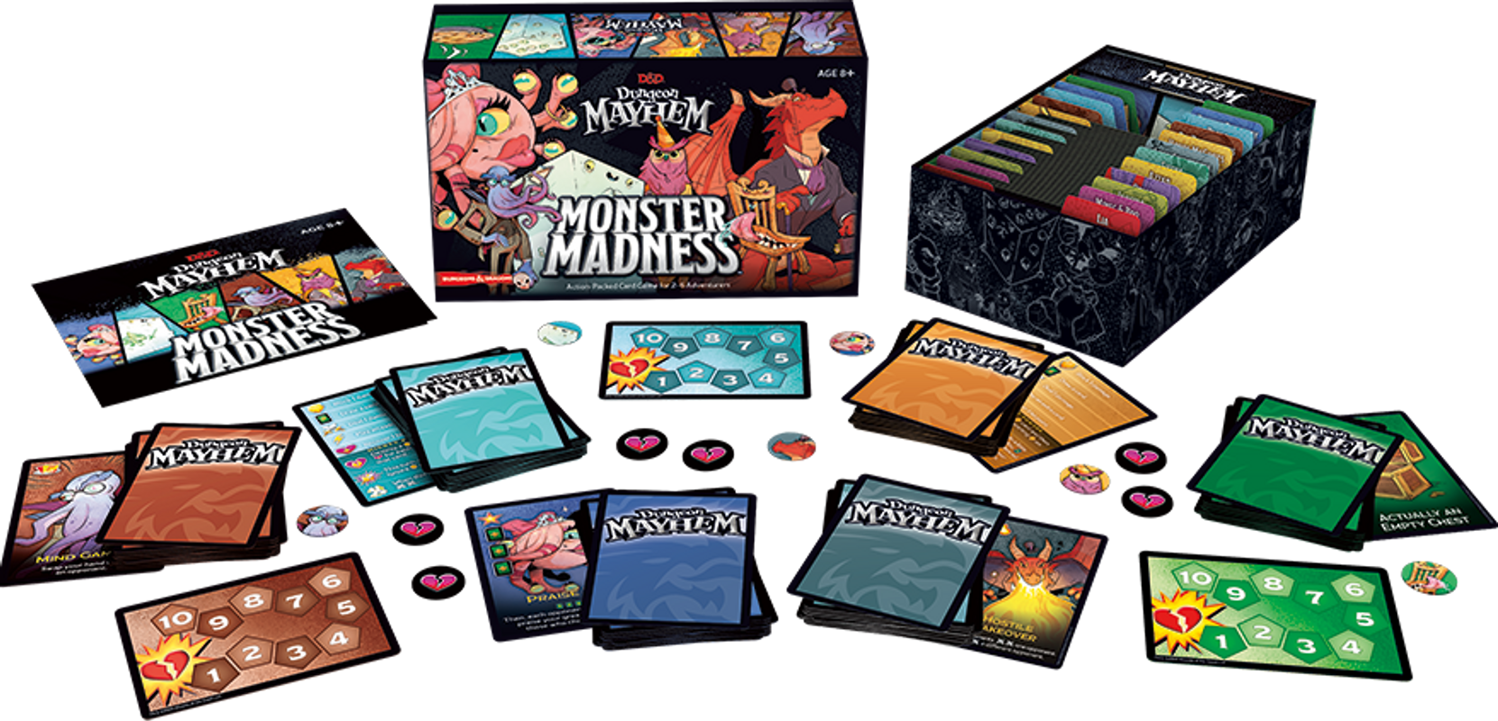Dungeon Mayhem: Monster Madness components