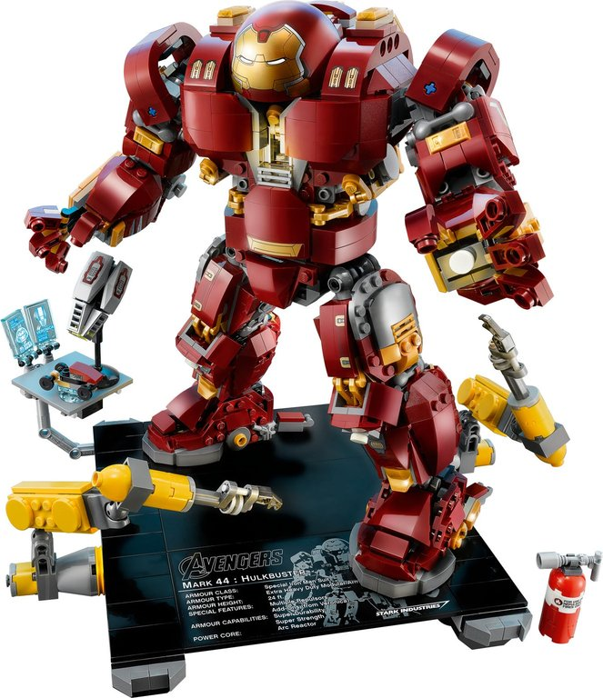 LEGO® Marvel The Hulkbuster: Ultron Edition components
