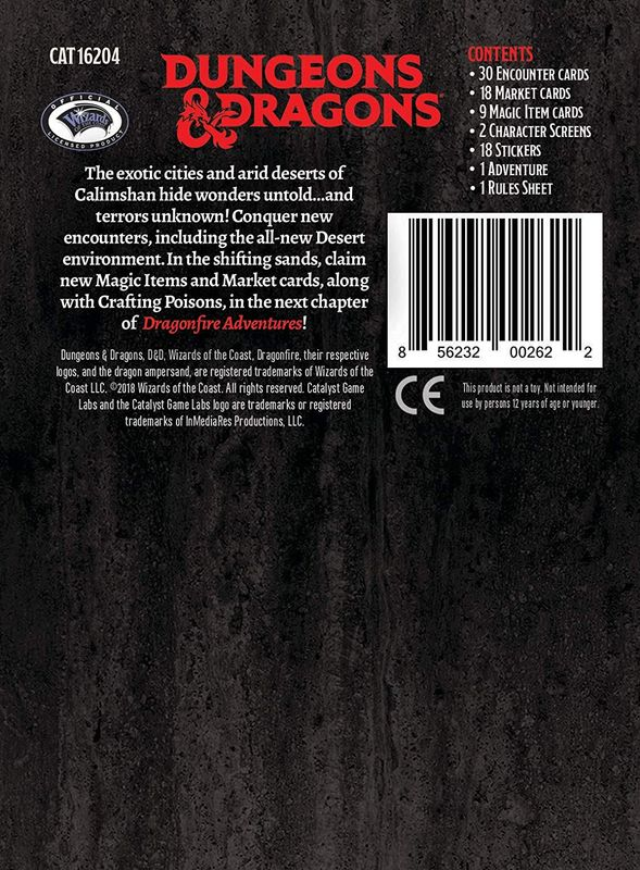 Dragonfire: Adventures - A Corruption in Calimshan back of the box