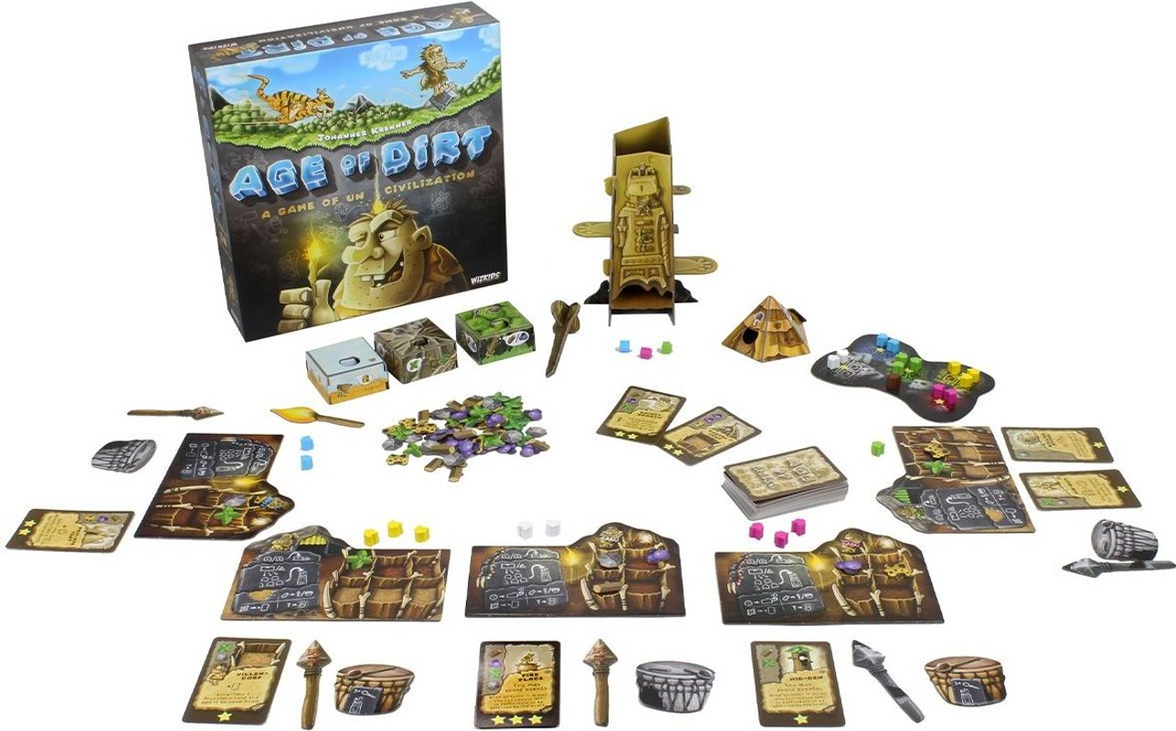 Age of Dirt: A Game of Uncivilization components