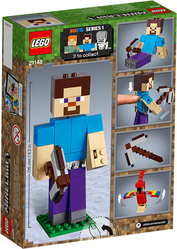 LEGO® Minecraft Steve BigFig with Parrot back of the box
