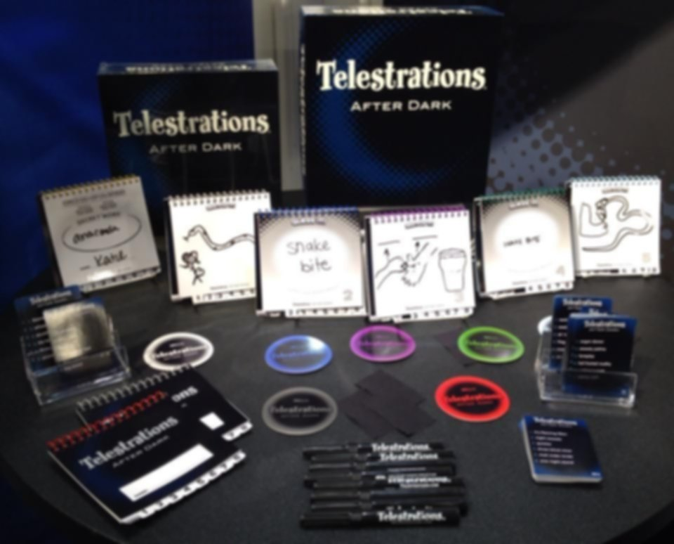 Telestrations After Dark components