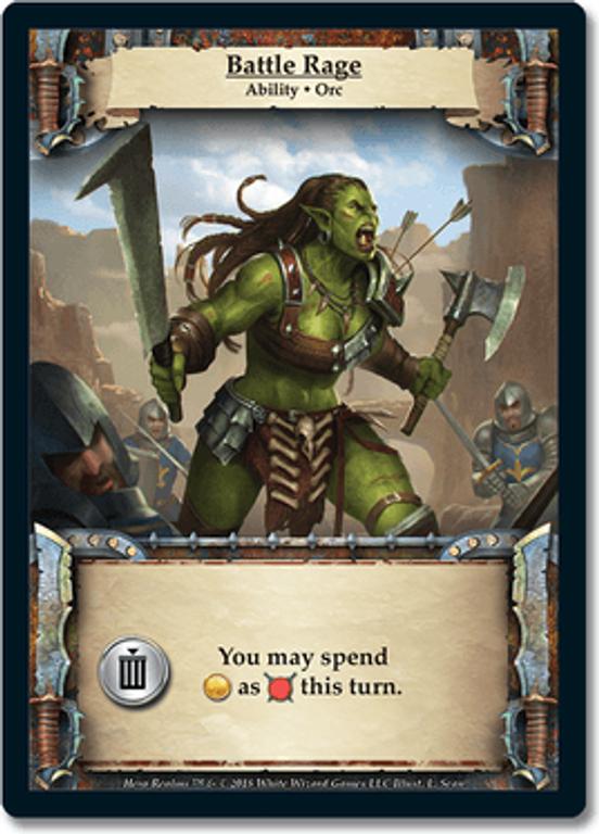Hero Realms: Ancestry Battle Rage card