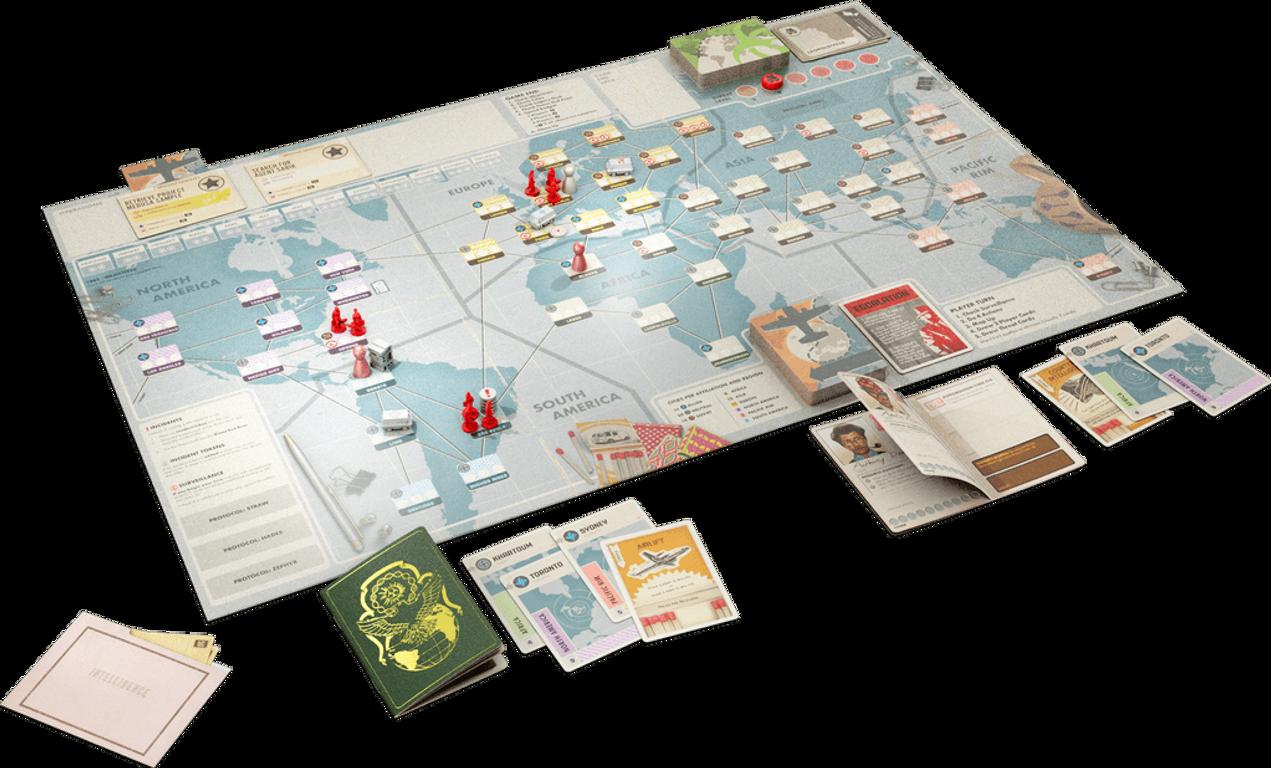 Pandemic Legacy: Season 0 components