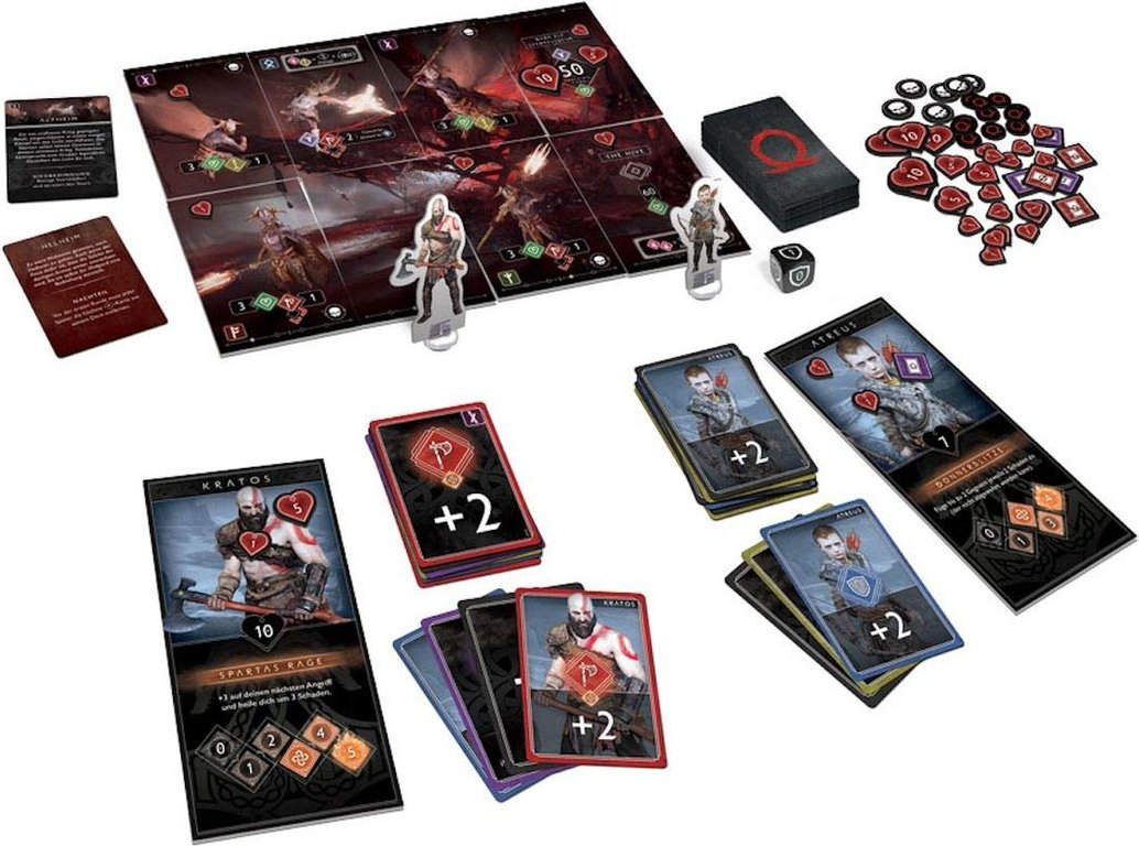 God of War: The Card Game components