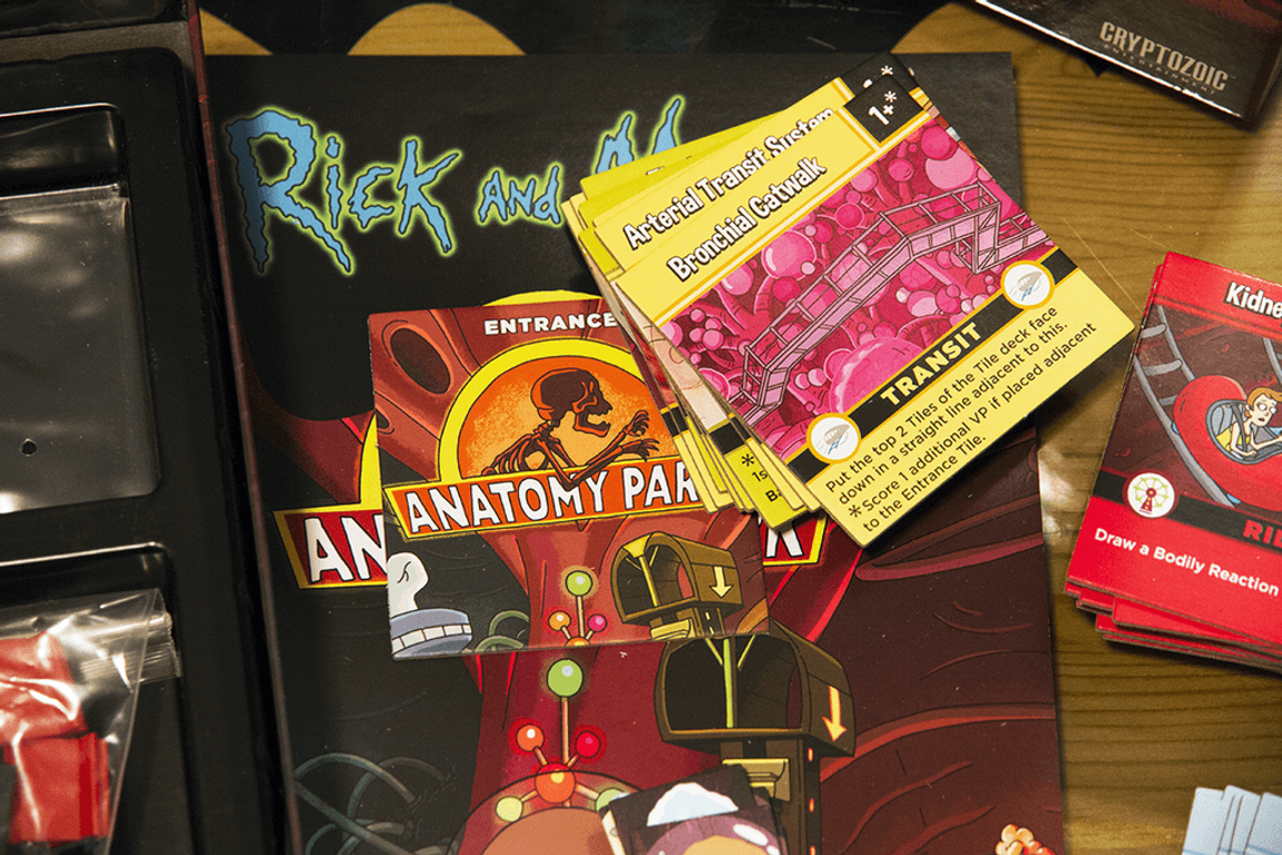 Rick and Morty: Anatomy Park - The Game components