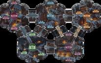 Arkham Horror 3rd Edition game board