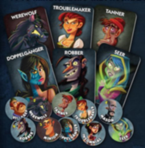 One Night Ultimate Werewolf components