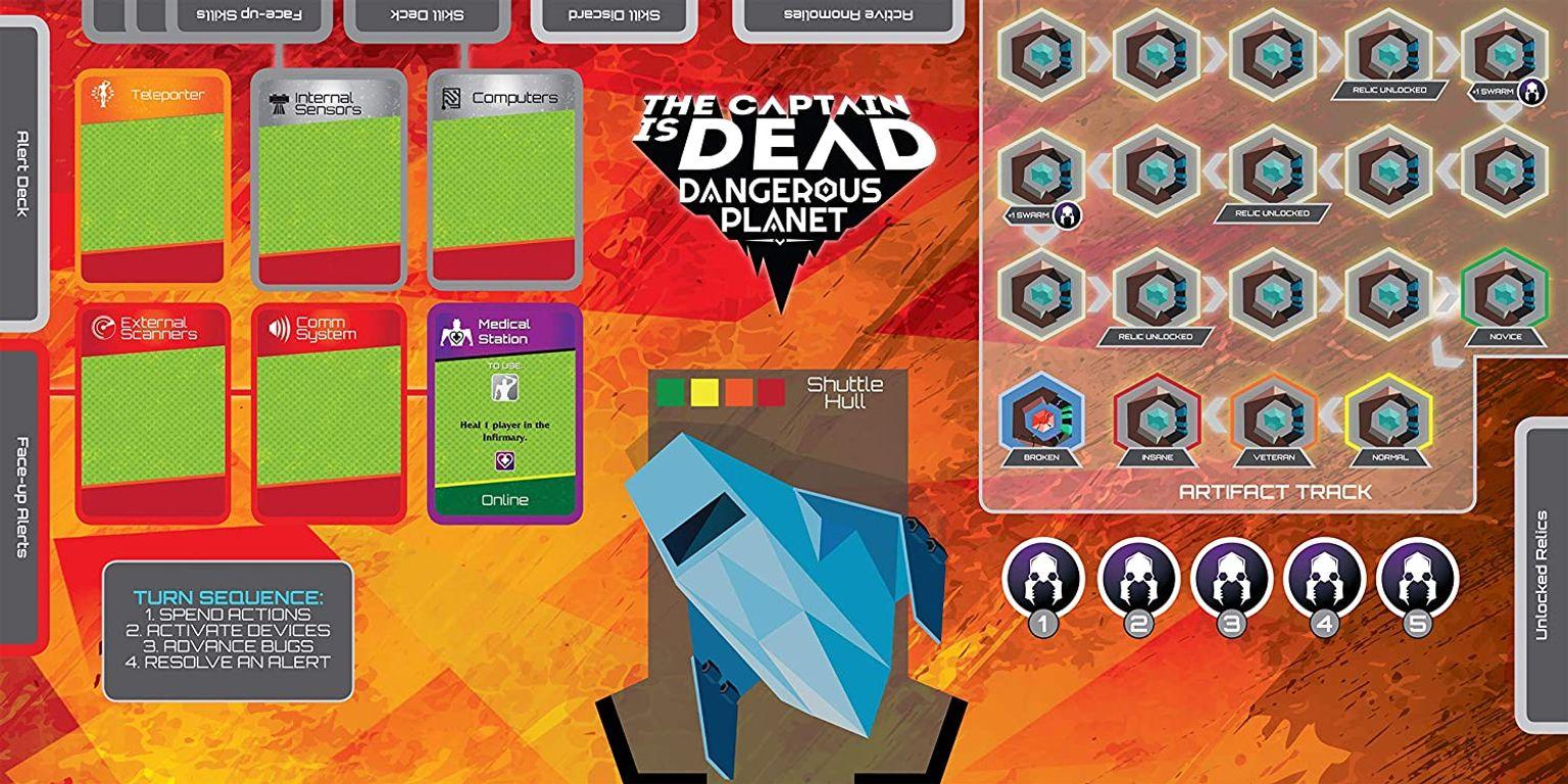 The Captain Is Dead: Dangerous Planet game board