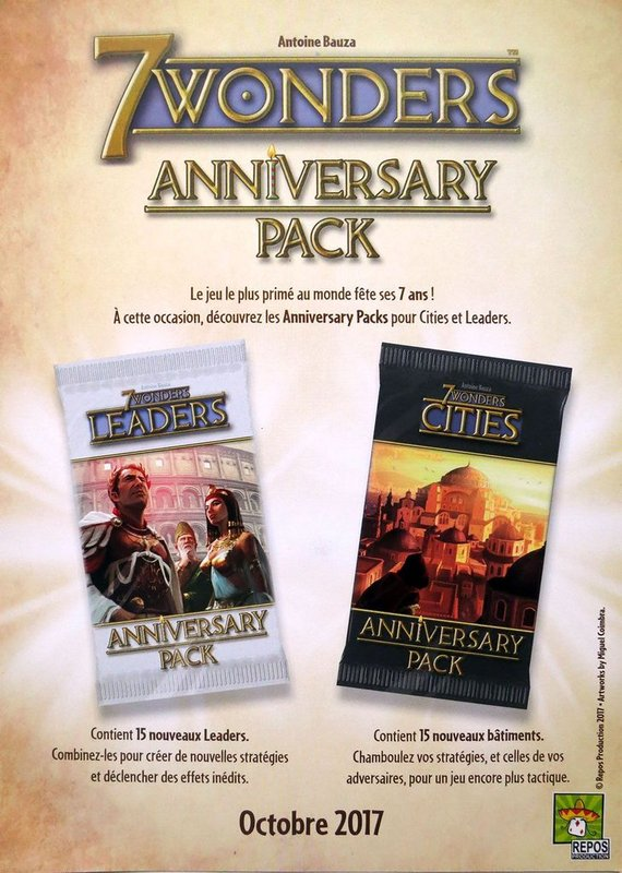 7 Wonders: Leaders Anniversary Pack manual