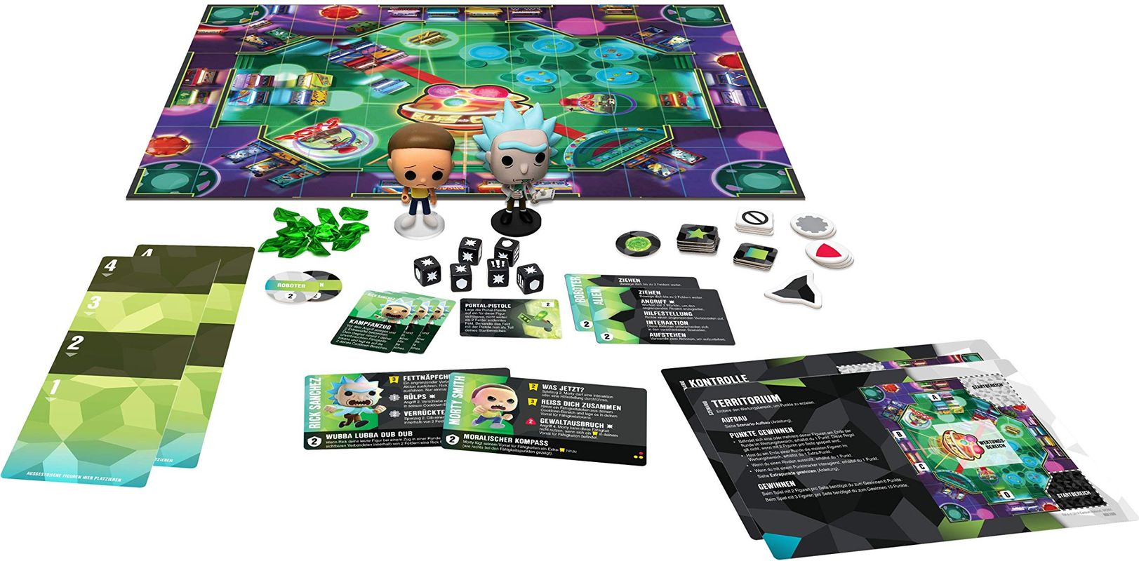 Funkoverse Strategy Game: Rick & Morty 100 components