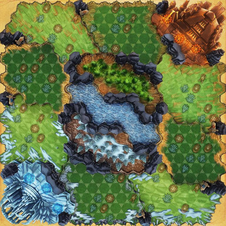 Guards of Atlantis game board