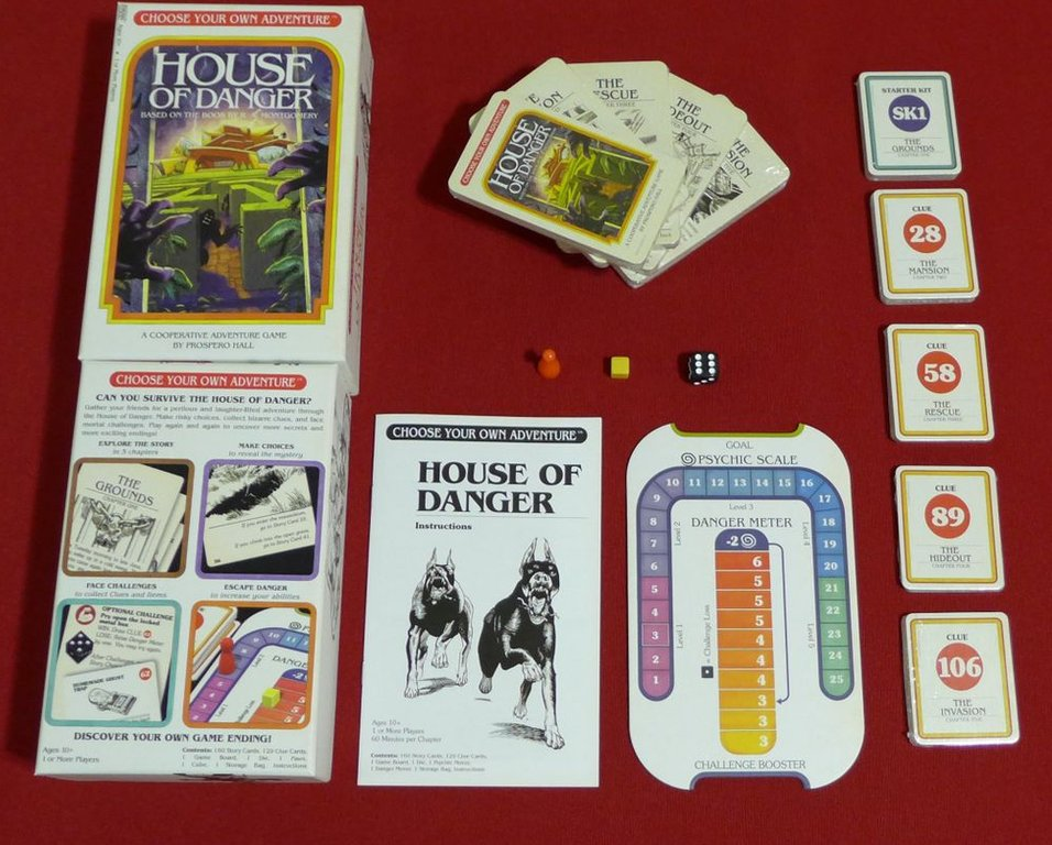 Choose Your Own Adventure: House of Danger components