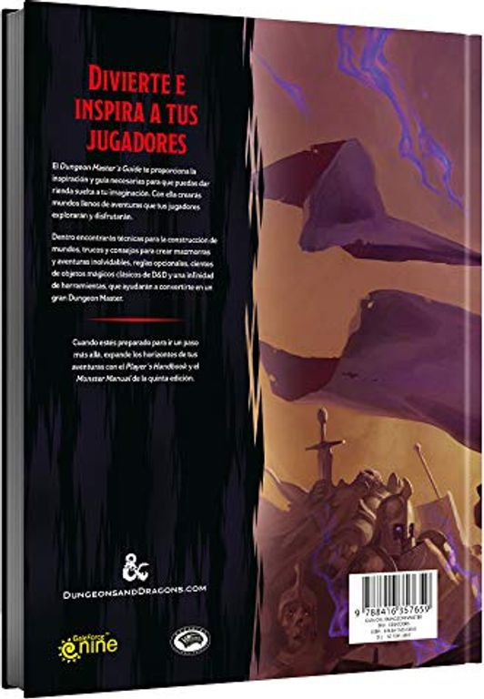 Dungeon Master's Guide (D&D 5e) back side