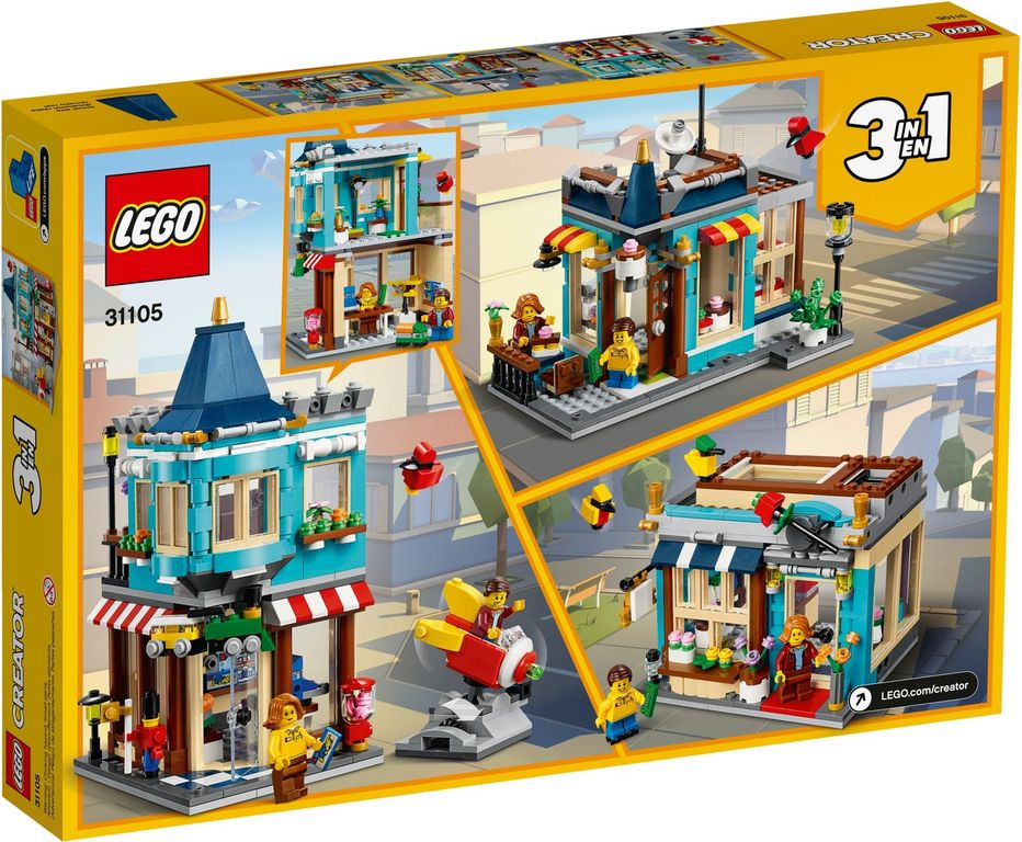 LEGO® Creator Townhouse Toy Store back of the box