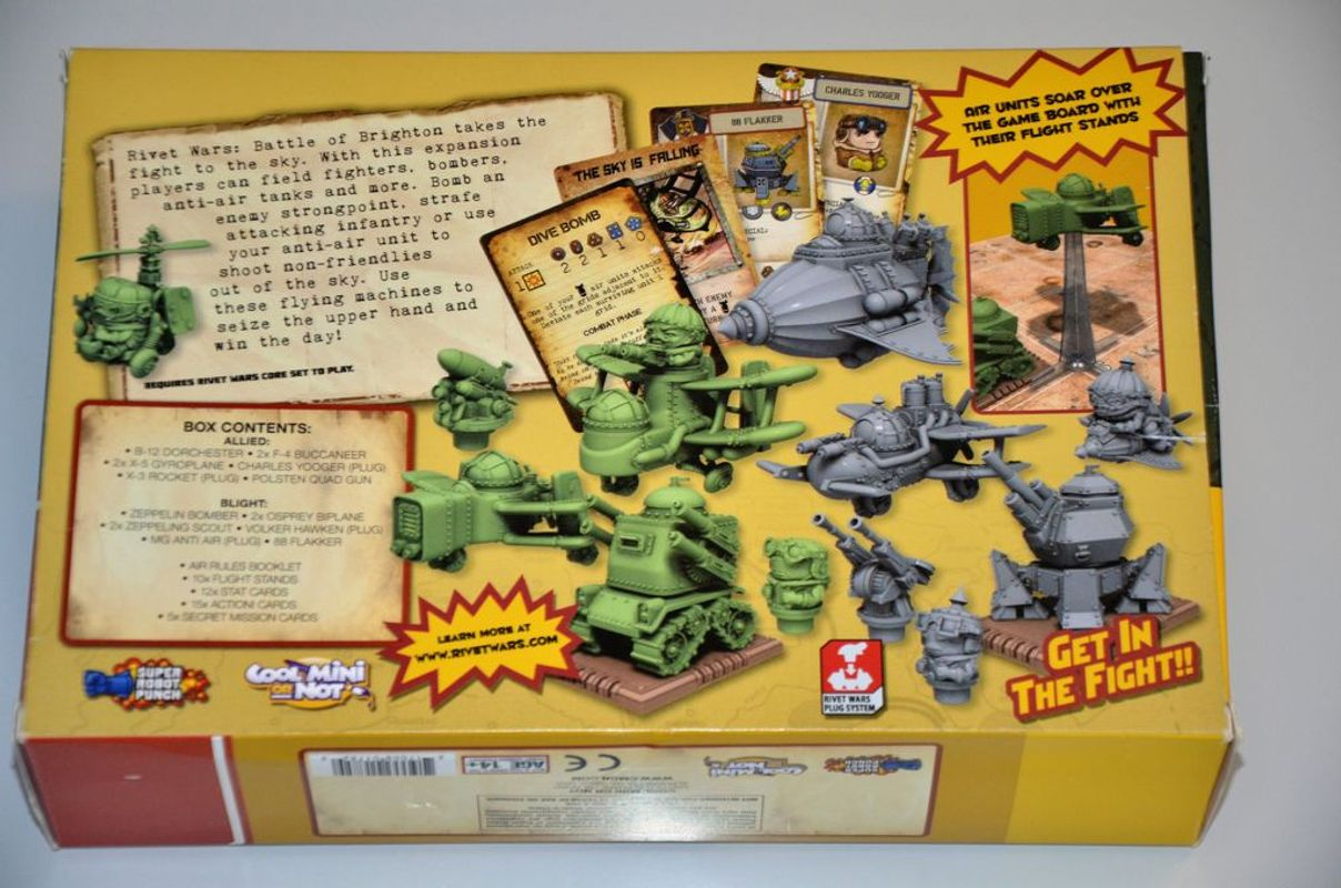 Rivet Wars: Battle of Brighton back of the box