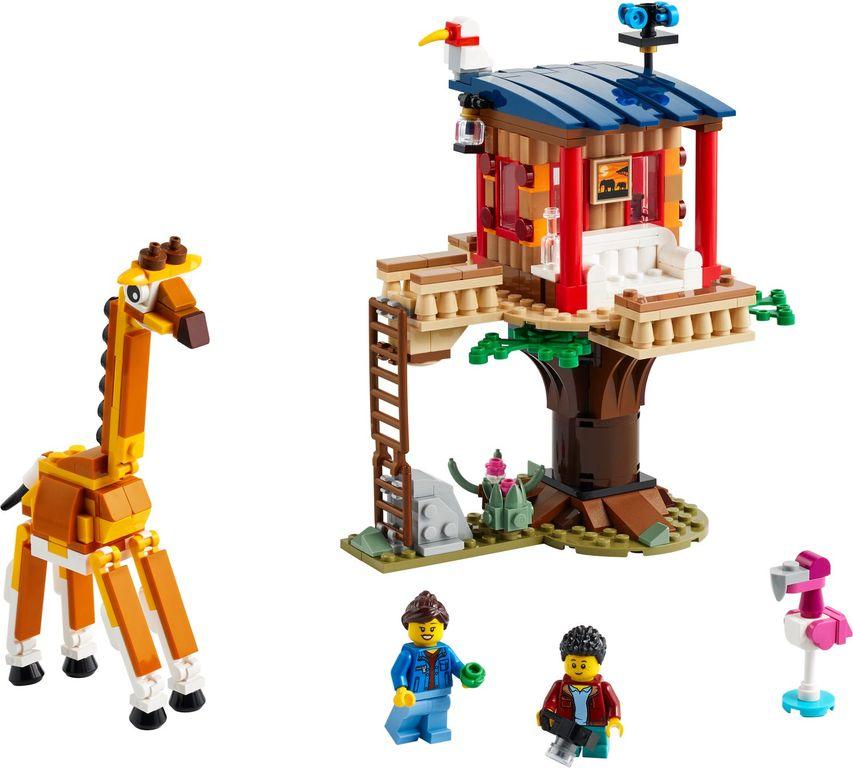 LEGO® Creator Safari Wildlife Tree House components