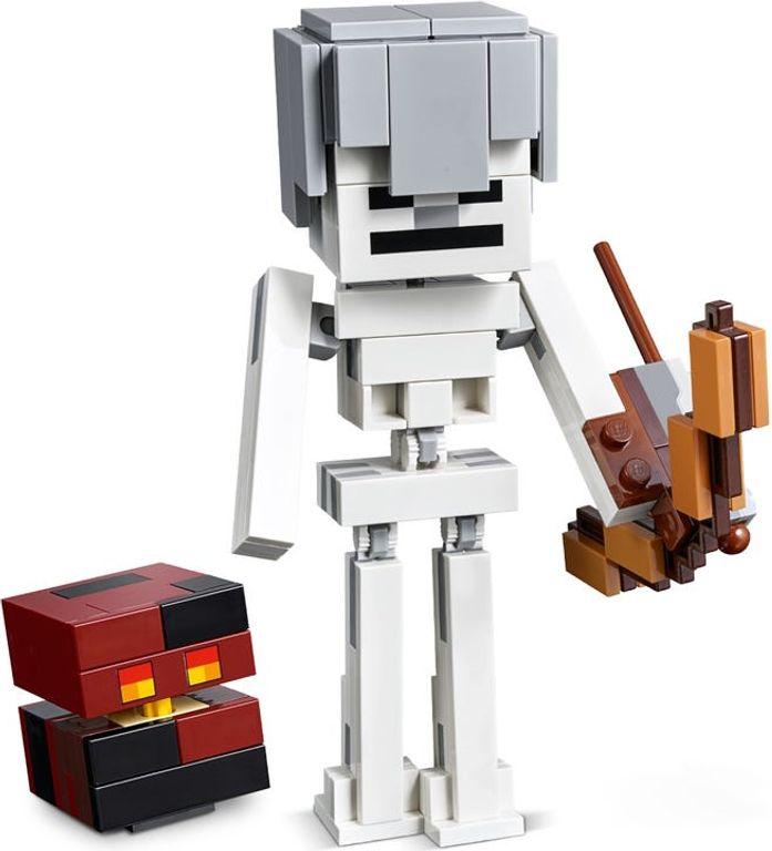 LEGO® Minecraft Skeleton BigFig with Magma Cube components