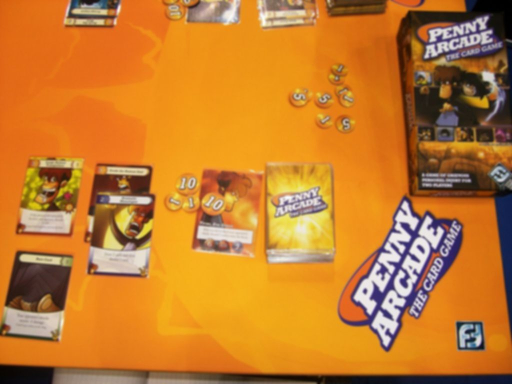 Penny Arcade: The Card Game components