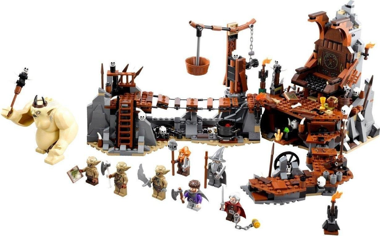 LEGO® The Hobbit The Goblin King Battle components