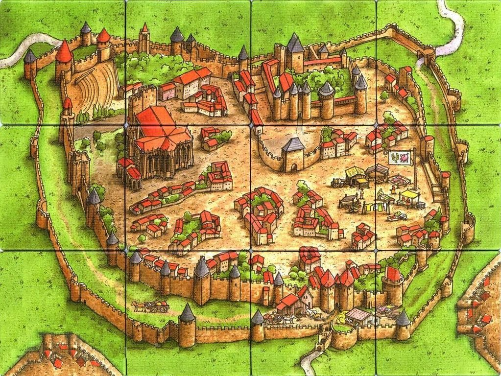 The Count of Carcassonne tiles