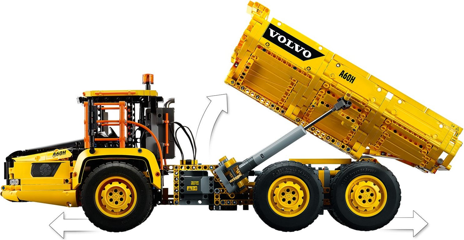 LEGO® Technic 6x6 Volvo Articulated Hauler components