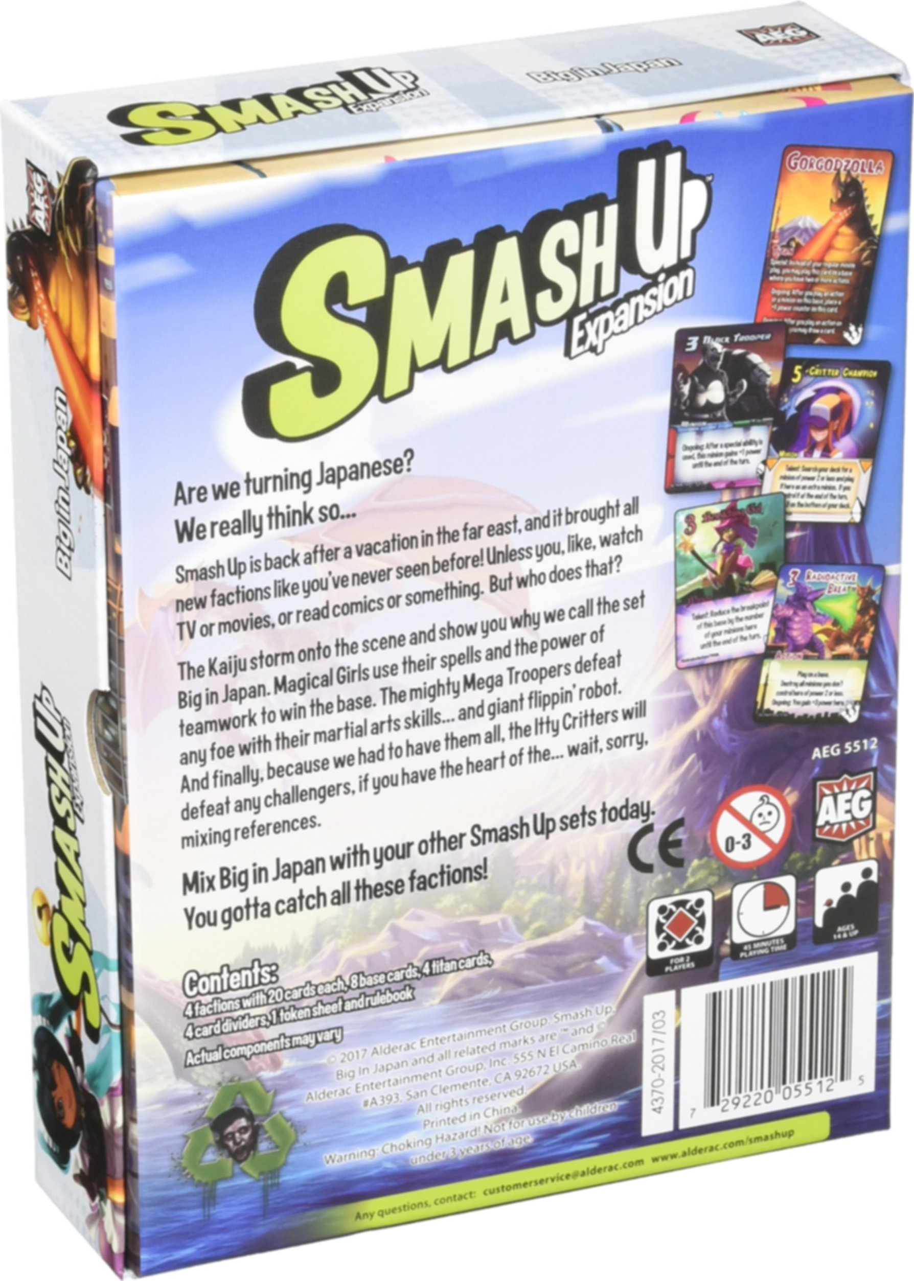 Smash Up: Big in Japan back of the box