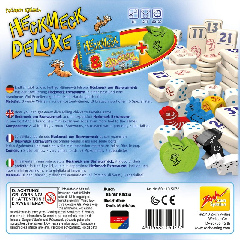 Heckmeck Deluxe back of the box