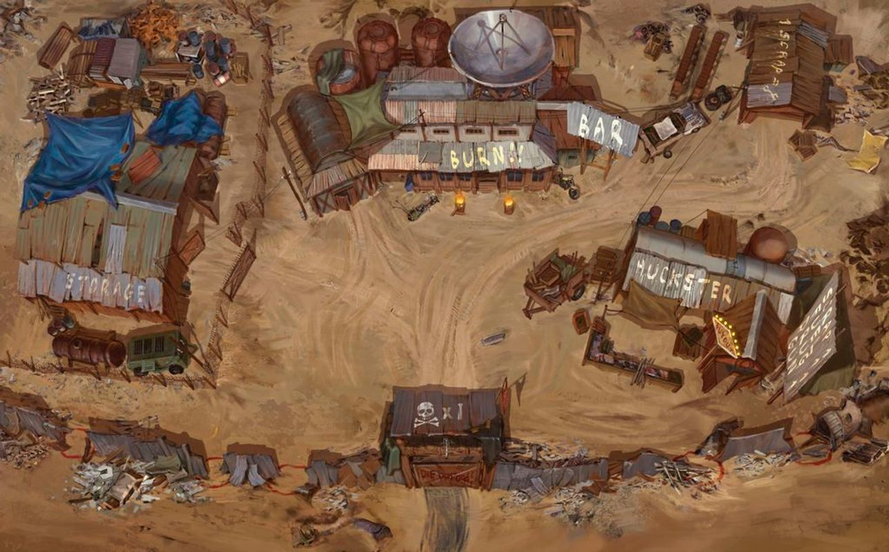 Badlands: Outpost of Humanity game board