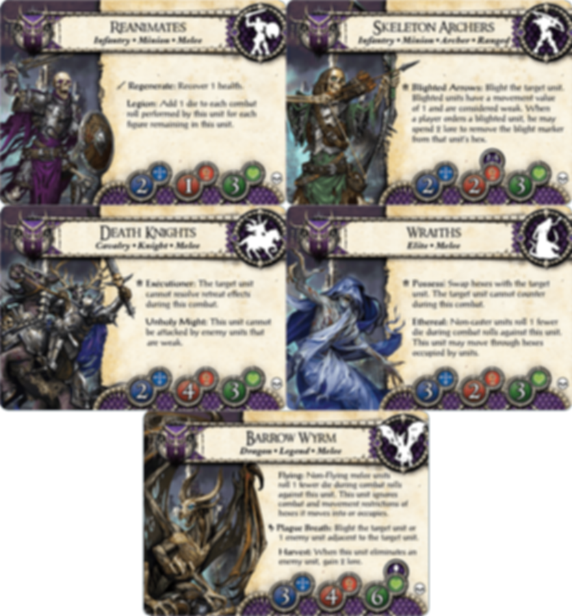 BattleLore (Second Edition): Heralds of Dreadfall Army Pack cards