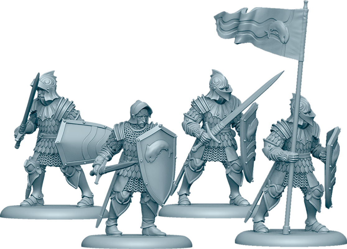 A Song of Ice & Fire: Tabletop Miniatures Game - Tully Sworn Shields miniatures