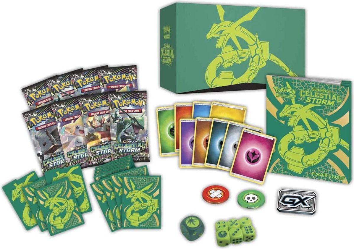 Pokemon Sun & Moon Celestial Storm Elite Trainerbox components