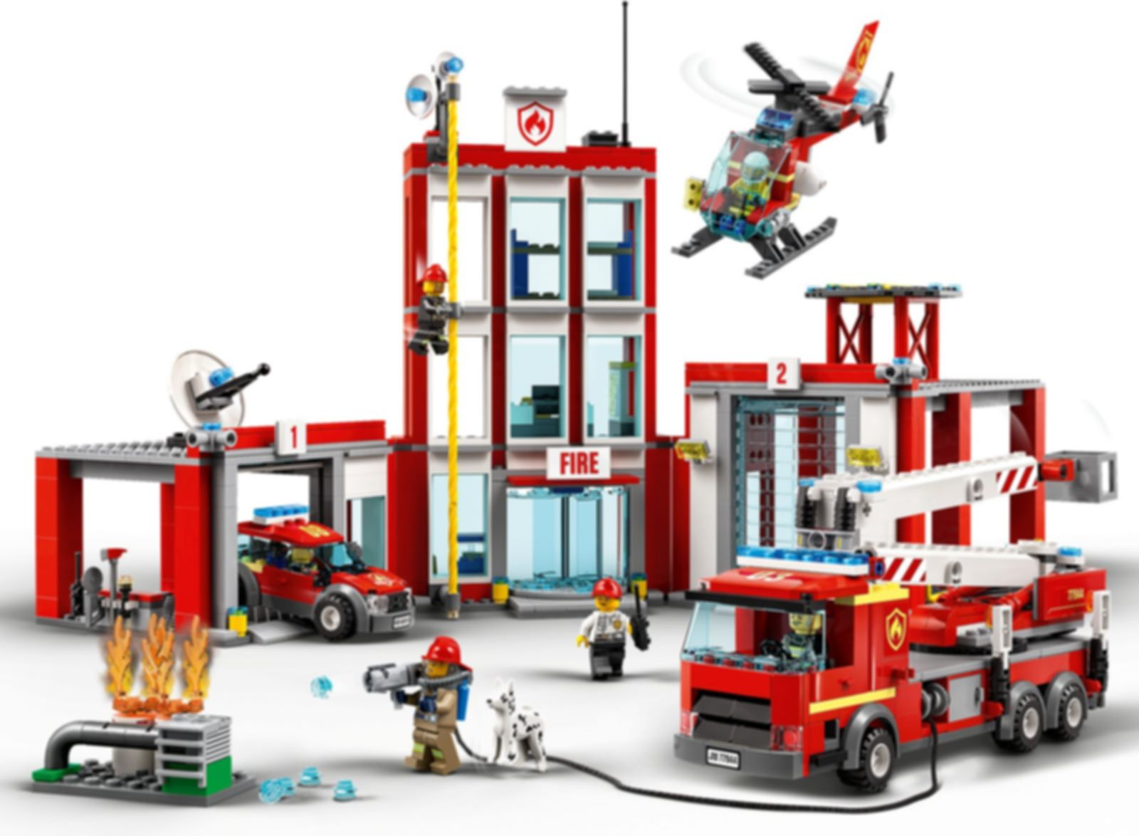 LEGO® City Fire Station Headquarters gameplay