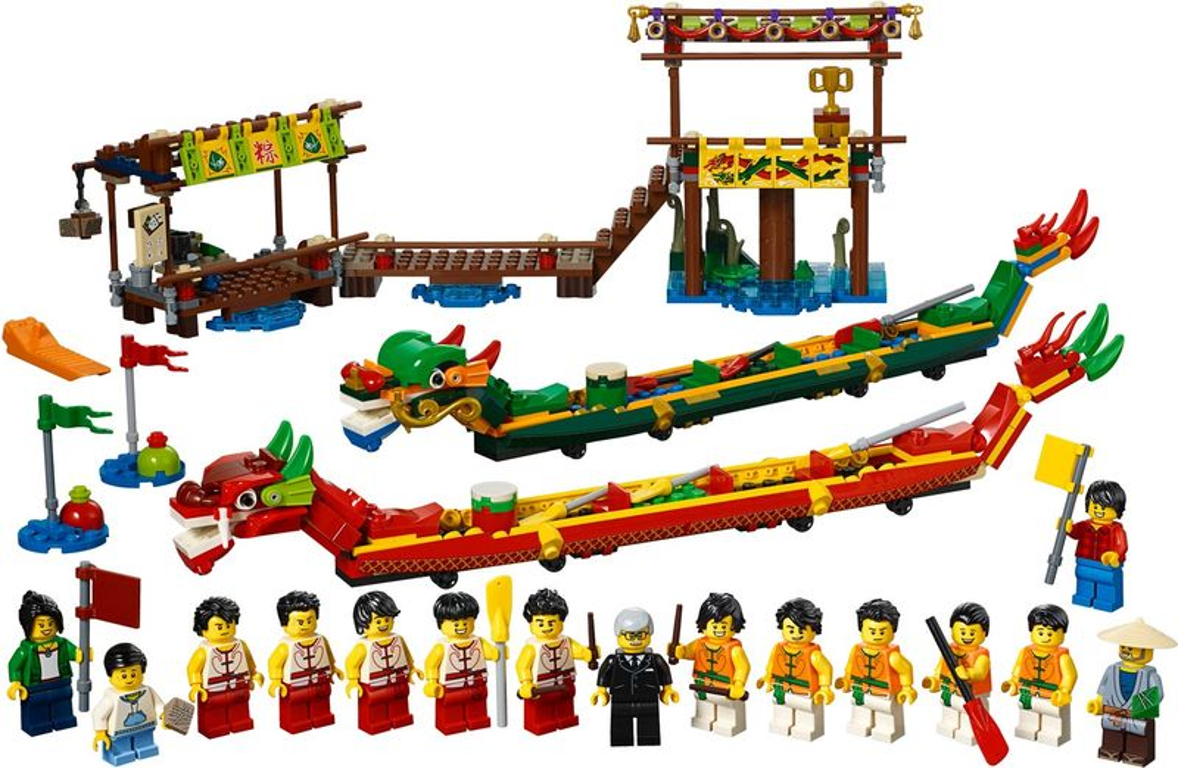 LEGO® Dragon Boat Race components