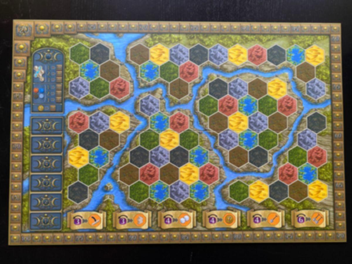 Terra Mystica: Merchants of the Seas game board