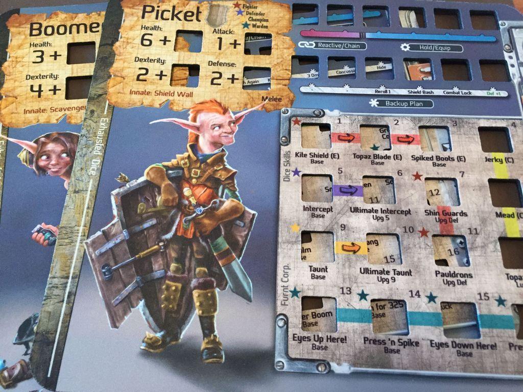 Too Many Bones game board