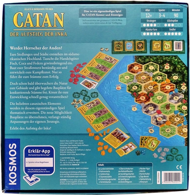Catan Histories: Rise of the Inkas back of the box