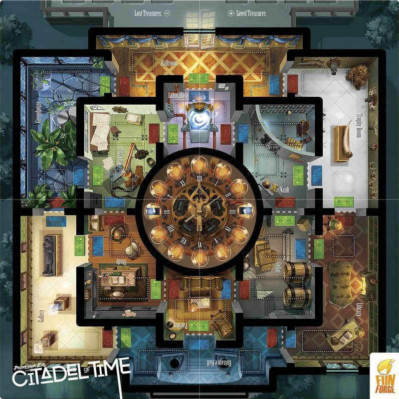 Professor Evil and The Citadel of Time game board