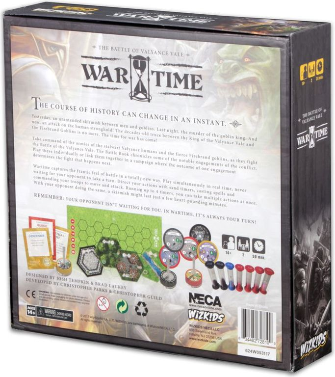 Wartime: The Battle of Valyance Vale back of the box