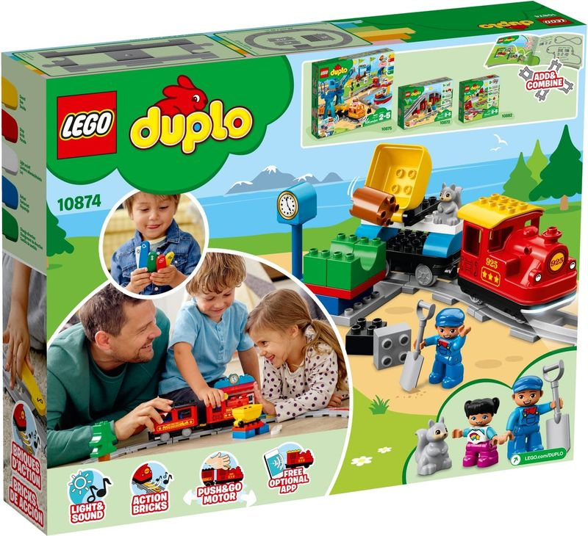 LEGO® DUPLO® Steam Train back of the box