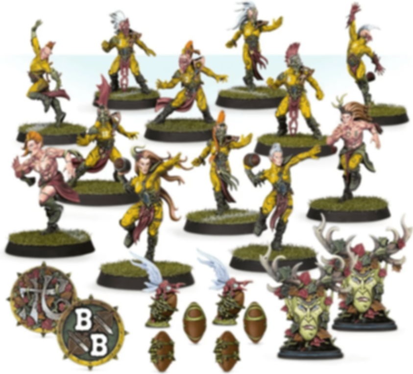 Blood Bowl (2016 edition): Athelorn Avengers – Wood Elf Blood Bowl Team components