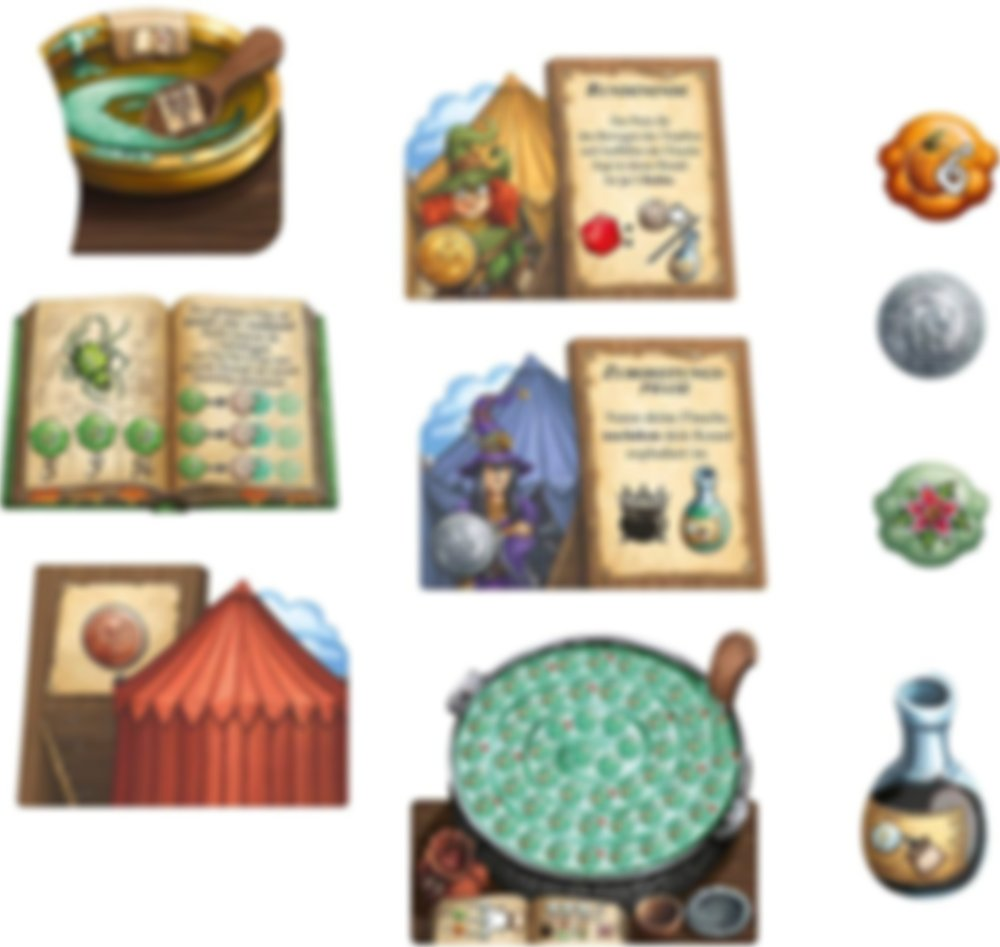 The Quacks of Quedlinburg: The Herb Witches components