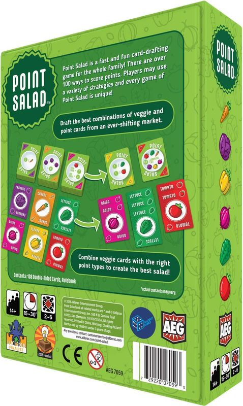 Point Salad back of the box