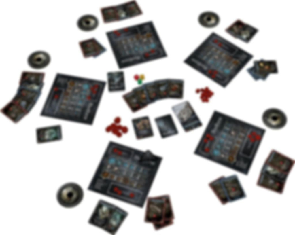 Bloodborne: The Card Game components