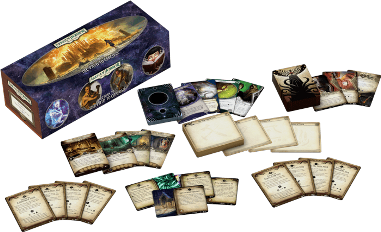 Arkham Horror: The Card Game - Return to the Path to Carcosa components