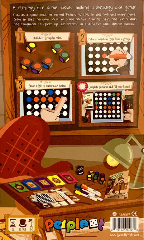 Roland Wright: The Dice Game back of the box