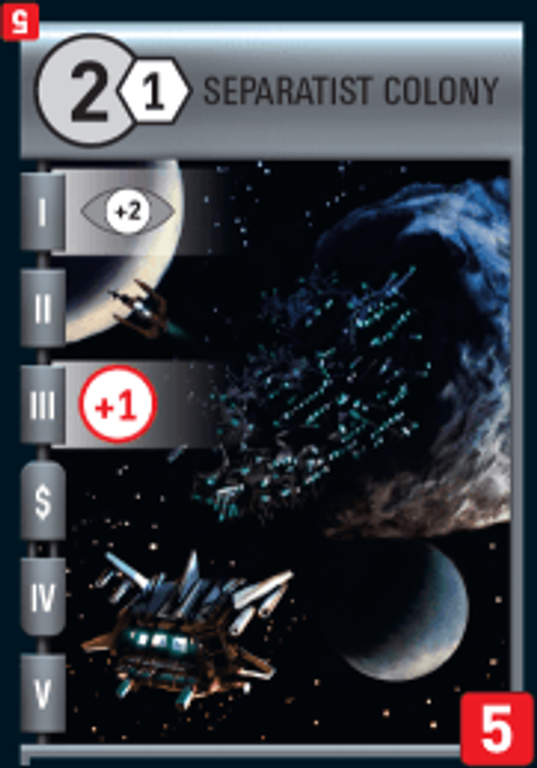 Race for the Galaxy: The Gathering Storm Separatist Colony card